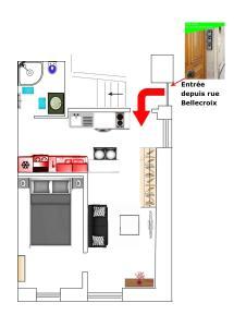 The floor plan of Plus Belle La Vigne