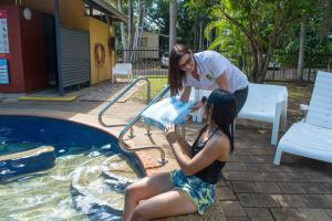 The swimming pool at or near Hidden Valley Holiday Park Darwin