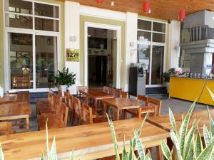 A restaurant or other place to eat at Lucky Phu Quoc Hotel