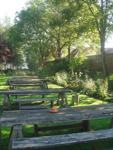 A garden outside The Olde Bell