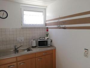 Küche/Küchenzeile in der Unterkunft Ferienwohnung Ambiente am Europa-Park