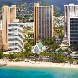A bird's-eye view of Hilton Waikiki Beach Hotel