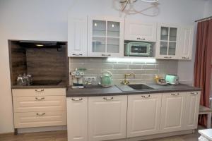 Kuchyň nebo kuchyňský kout v ubytování Křišťanka - kouzelné apartmány