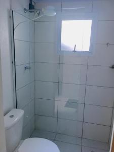 A bathroom at Hotel Tiaraju