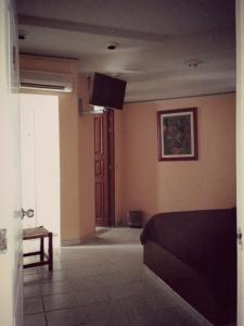 Una televisión o centro de entretenimiento en Hotel Premier