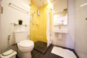 A bathroom at Yim Bangkok
