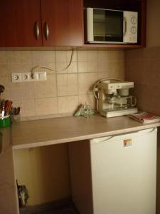 A kitchen or kitchenette at Agávé Apartman