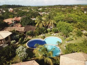 Uitzicht op het zwembad bij Pousada Morada dos Ventos of in de buurt
