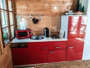 Küche/Küchenzeile in der Unterkunft Weigl Hütte Semmering