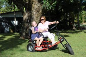 A family staying at BIG4 Whitsundays Tropical Eco Resort