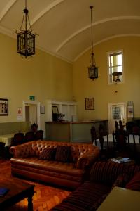 A seating area at The Forum Hostel