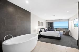A bathroom at Beachfront #12