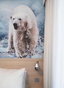 L'établissement Thon Hotel Polar en hiver