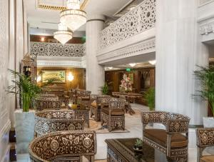 The lobby or reception area at Ajwa Hotel Sultanahmet