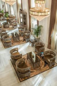 A seating area at Ajwa Hotel Sultanahmet