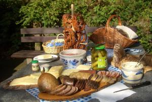 Breakfast options available to guests at Pension Burk