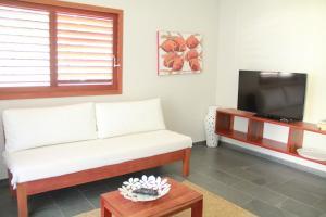 A seating area at Flor da Mata
