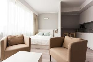 Część wypoczynkowa w obiekcie Silver Apartments