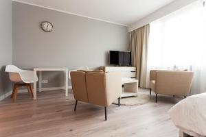 Telewizja i/lub zestaw kina domowego w obiekcie Silver Apartments