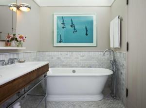 A bathroom at The Beekman, a Thompson Hotel