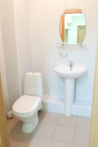 A bathroom at Molodezhnaya Hotel