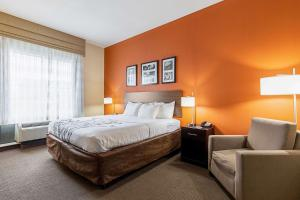 A bed or beds in a room at Sleep Inn & Suites Dyersburg I-155
