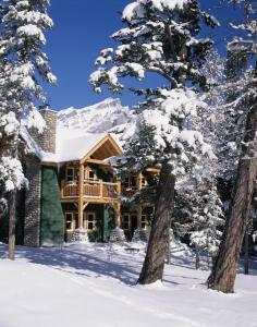 Buffalo Mountain Lodge during the winter