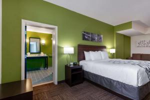 Ein Bett oder Betten in einem Zimmer der Unterkunft Sleep Inn & Suites Tampa South