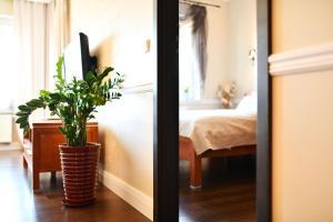 Łóżko lub łóżka w pokoju w obiekcie City Art Apartamenty w Rezydencji Maritimo