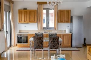 Кухня или мини-кухня в Ionion Star Hotel