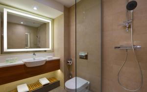 A bathroom at Courtyard by Marriott Moscow City Center