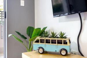 A television and/or entertainment center at Shoal Bay Beach Apartments, 6/2 Shoal Bay Road