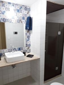 A bathroom at Apartamento Ondina