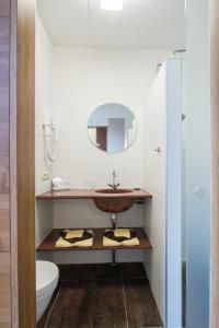 Een badkamer bij Duinhotel Zomerlust