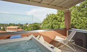 A balcony or terrace at Lena Mare Boutique Hotel