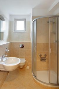 A bathroom at Apartmány KLÍNOVEC - Apartment KEILBERG