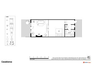 The floor plan of Casuarina Estate