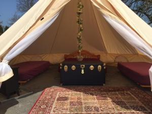 Banquet facilities at the luxury tent