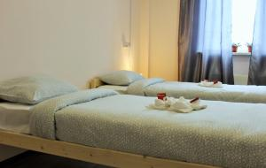 A bed or beds in a room at Hostel Rus Lermontovsky prospekt