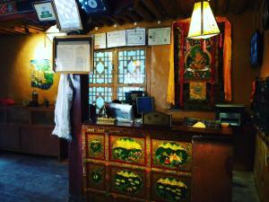 The lobby or reception area at Shambhala Palace Hotel