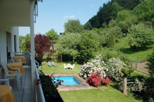 A view of the pool at Pension Burk or nearby