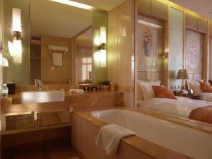 A bathroom at Wenjin Hotel, Beijing