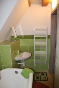 A bathroom at Penzion Modrý Svět