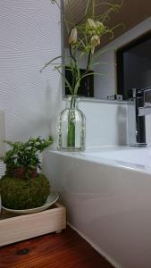 A bathroom at Aki Kokubunji Shukubou