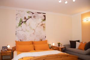 Ein Bett oder Betten in einem Zimmer der Unterkunft Willi's Bauernhof