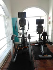 The fitness center and/or fitness facilities at Coconut Malorie Resort Ocean City a Ramada by Wyndham