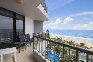 A balcony or terrace at The Rocks Resort, Unit 8G