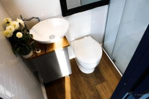 A bathroom at Compass Hut