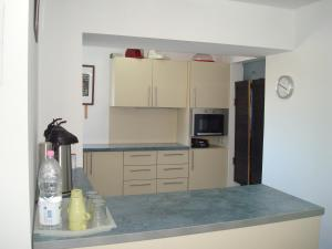 A kitchen or kitchenette at Pension Oasis