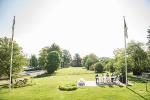 En trädgård utanför STF Villa Söderåsen